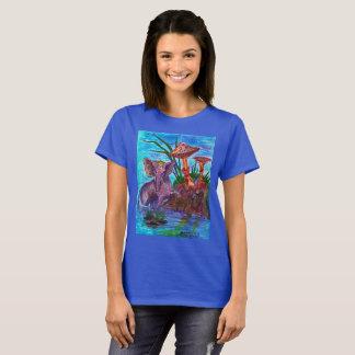 Camiseta Mini elefante com cogumelos