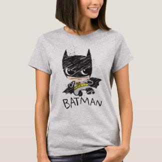 Camiseta Mini esboço clássico de Batman