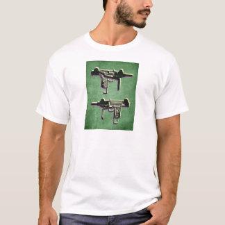 Camiseta Mini metralhadora secundária de Uzi no verde