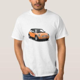 Camiseta Mini t-shirt moderno alaranjado do carro
