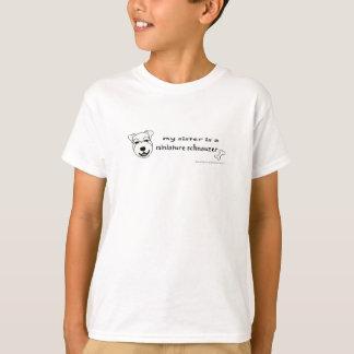 Camiseta MiniSchnauzerWhiteSister