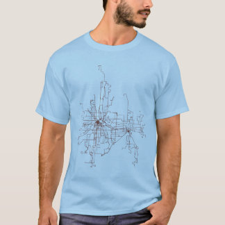 Camiseta Minneapolis-Rua. Rotas do trânsito de Paul