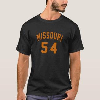 Camiseta Missouri 54 designs do aniversário