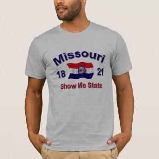 Camiseta Missouri mostra-me o estado