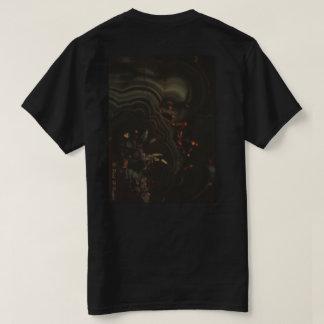 Camiseta Mistérios do t-shirt da natureza, o preto & o