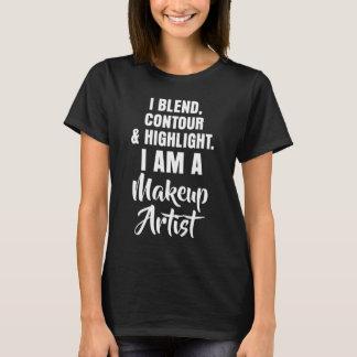 Camiseta Mistura, contorno, destaque eu sou maquilhador