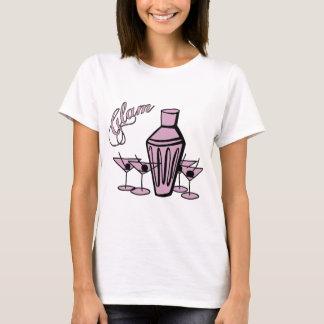 Camiseta Mistura Glam de Martini - rosa