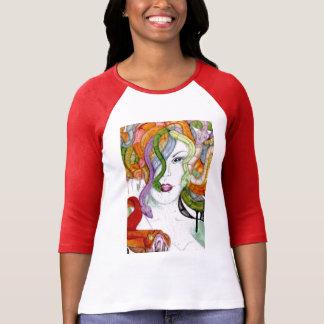 Camiseta Mitologia grega pintado mão do Medusa