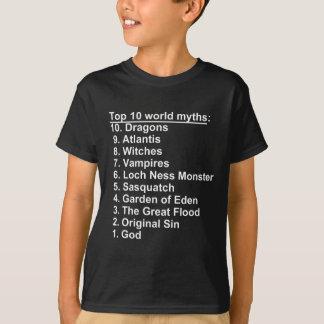 Camiseta Mitos da parte superior 10