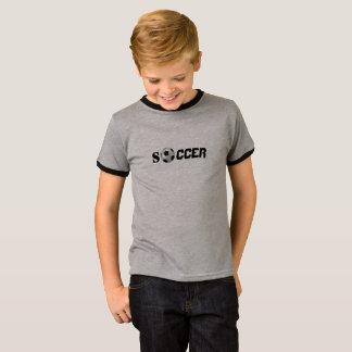 Camiseta miúdo do t-shirt do futebol