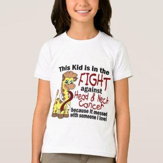 Camiseta Miúdo na luta contra o cancer principal e de