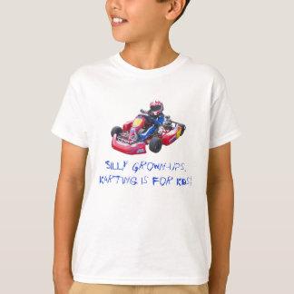 Camiseta Miúdo parvo Kart dos adulto
