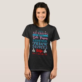 Camiseta Miúdo que aumenta esposa faltante dos camionistas