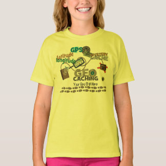 Camiseta Miúdos da febre de Geocache - personalize o número