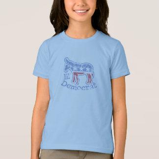 Camiseta Miúdos do asno de Lil Democrata do vintage