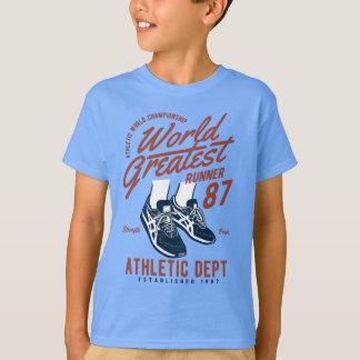 Camiseta Miúdos do corredor do mundo t-shirt do TAGLESS®