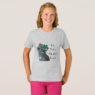 Camiseta Miúdos do T de Makenzee do gatinho da manhã