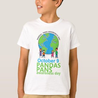 Camiseta Miúdos do t-shirt do dia da consciência de