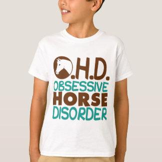 Camiseta Miúdos engraçados do cavalo