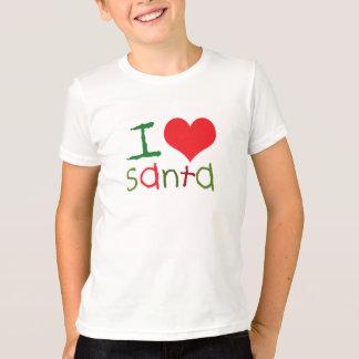 Camiseta Miúdos eu amo o t-shirt dos miúdos do papai noel