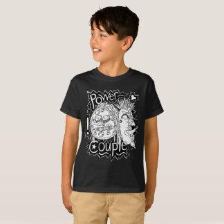 Camiseta Miúdos preto e branco do t-shirt do casal do poder