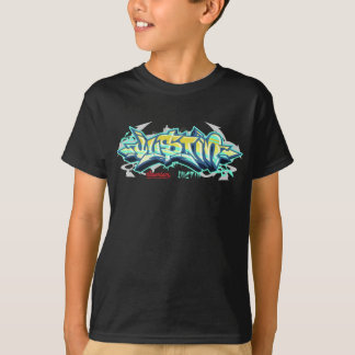 Camiseta Miúdos Streetwear: Grafites de Justin