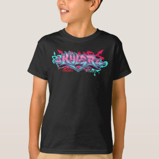 Camiseta Miúdos Streetwear: Grafites de Kyler