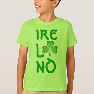 """Camiseta Miúdos verdes verticais do t-shirt de """"Ireland"""" do"""