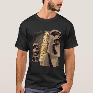 Camiseta Moai - preto