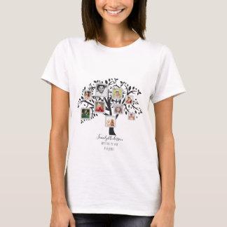 Camiseta Modelo da colagem da foto da árvore genealógica