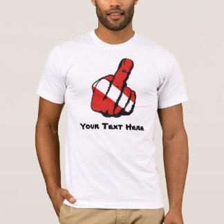 Camiseta Modelo do dedo do mergulho