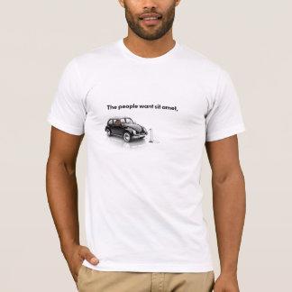 Camiseta Modelo do t-shirt - 1 linha
