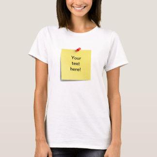 Camiseta Modelo pegajoso do t-shirt da nota - parte
