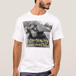 Camiseta Modelo-T da viagem ao trabalho