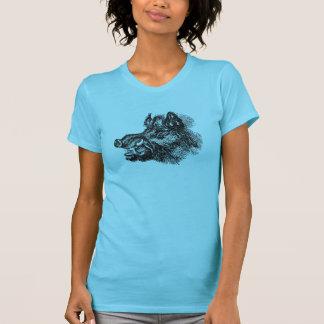 Camiseta Modelo vicioso das presas de w do javali do