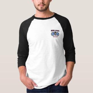 Camiseta Modelscoutsusa 3/4 de T do basebol da luva