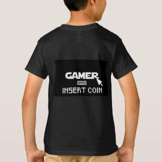 Camiseta Moeda da inserção do Gamer