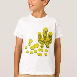 Camiseta Moedas douradas