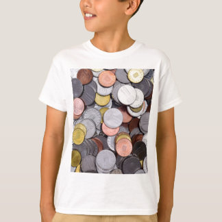 Camiseta moedas romenas
