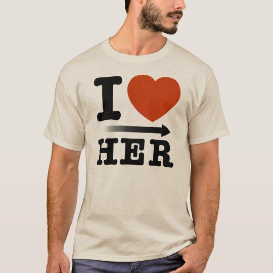 """Camiseta Moleton """"I Heart Her"""""""