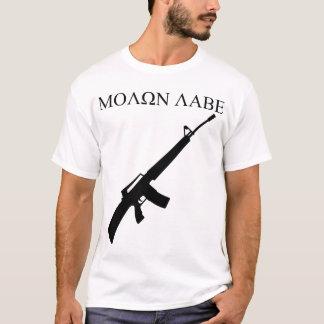 Camiseta MOLON LABE! (Gráficos pretos)
