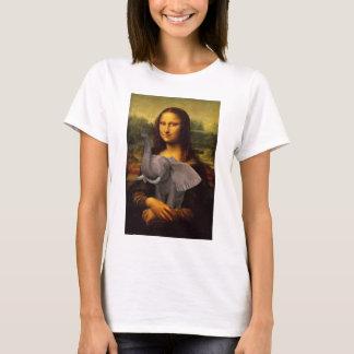Camiseta Mona Lisa com elefante