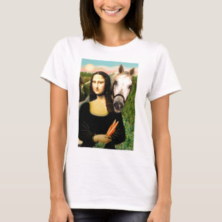 Camiseta Mona Lisa e seu cavalo árabe