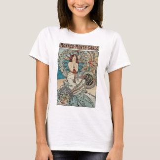 Camiseta ~ Monaco Monte de Alphonse Mucha - arte Nouveau de