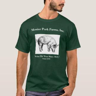 """Camiseta Monier Carne de porco Fazendas, Inc., """"suínos Flu*"""
