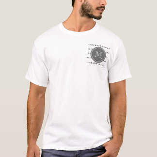 Camiseta Monograma asteca branco das setas do carvão