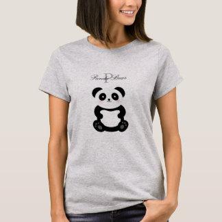 Camiseta Monograma feminino bonito do urso de panda do bebê