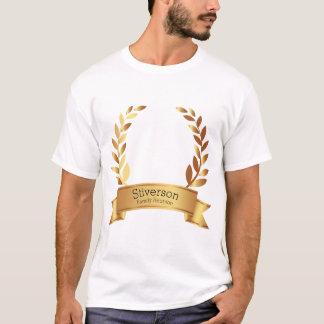 Camiseta Monograma personalizado folha da reunião de