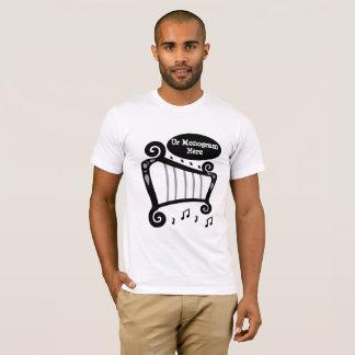 Camiseta Monograma preto e branco da harpa