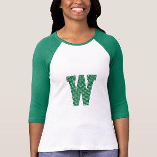 Camiseta Monograma verde e branco das bolinhas